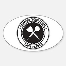 Support Dart Player Oval Decal
