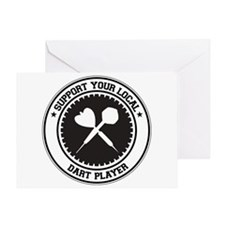 Support Dart Player Greeting Card