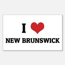 I Love New Brunswick Rectangle Decal