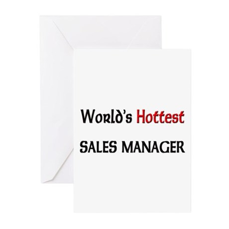 World's Hottest Sales Manager Greeting Cards (Pk o