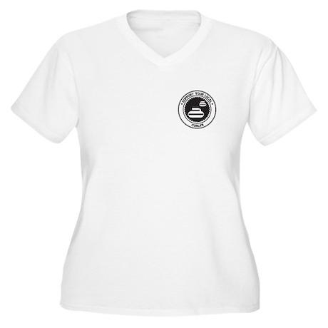 Support Curler Women's Plus Size V-Neck T-Shirt