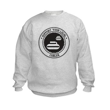 Support Curler Kids Sweatshirt