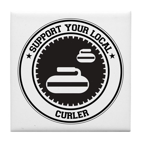 Support Curler Tile Coaster