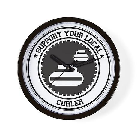 Support Curler Wall Clock