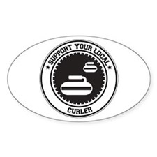 Support Curler Oval Decal