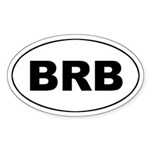 Barbados (BRB) Oval Sticker