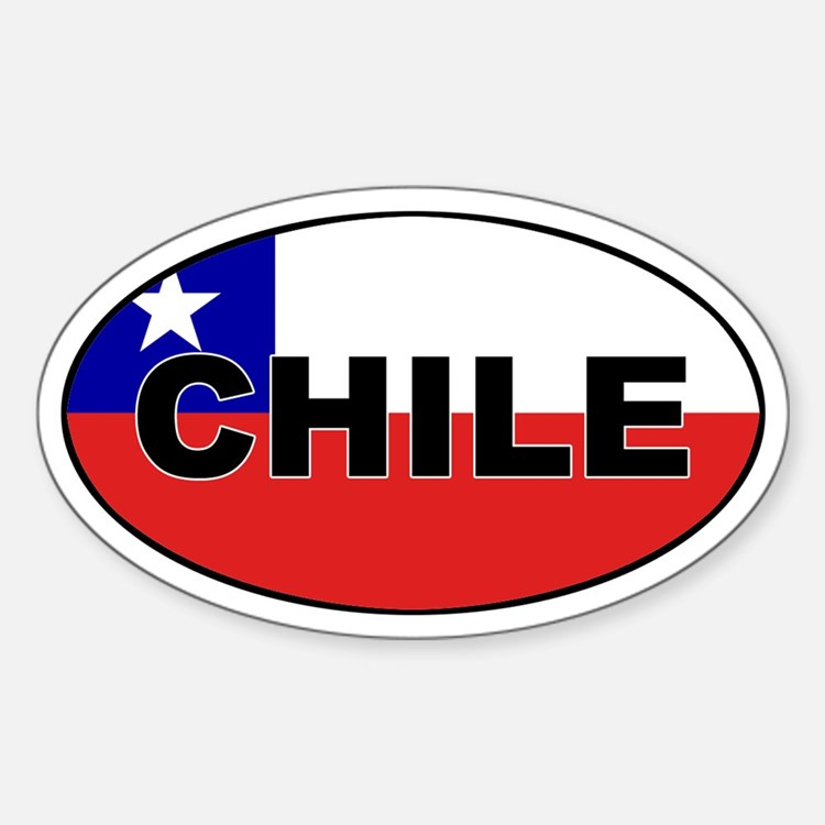 Flag of Chile Oval Decal
