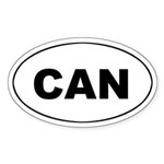 Canadian (CAN) Oval Sticker