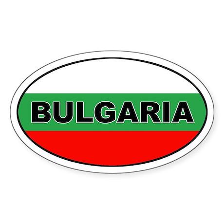 Bulgarian Flag Oval Sticker