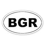 Bulgaria (BGR) Oval Sticker