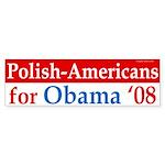Polish-Americans for Obama '08 bumper sticker