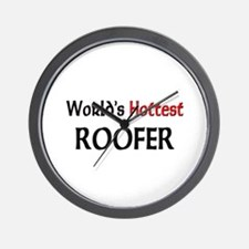 World's Hottest Roofer Wall Clock