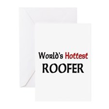 World's Hottest Roofer Greeting Cards (Pk of 10)