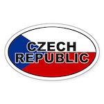 Czech Republic Oval Sticker