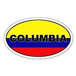 Flag of Columbia Oval Sticker