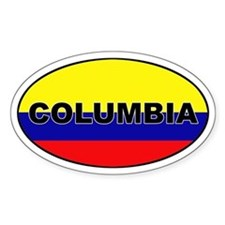 Flag of Columbia Oval Decal