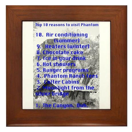 Phantom Ranch top 10 Framed Tile