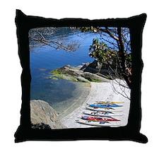 Kayaks on the Lake Throw Pillow