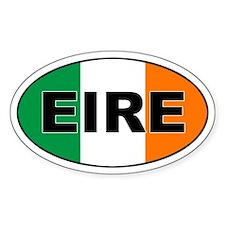 Irish (EIRE) Flag Oval Bumper Stickers