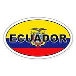 Flag of Ecuador Oval Sticker