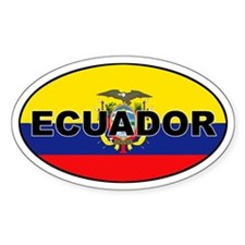Flag of Ecuador Oval Decal