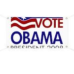 Vote Obama President 2008 Flag Banner
