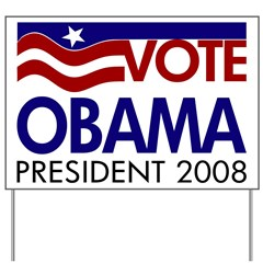 Vote Obama Flag Yard Sign