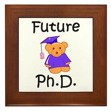 Future Ph.D Framed Tile