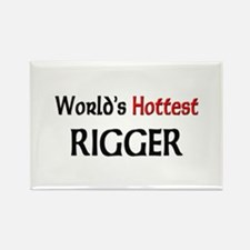 World's Hottest Rigger Rectangle Magnet