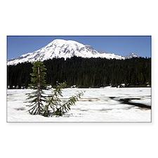 Mt. Rainier Rectangle Decal