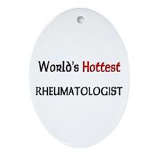 World's Hottest Rheumatologist Oval Ornament