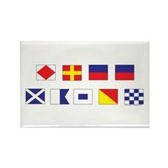 Mason Sailors Flags Rectangle Magnet (100 pack)