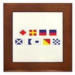 Mason Sailors Flags Framed Tile