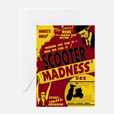 Scooter Madness Final Greeting Cards
