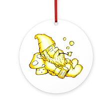 Pipe Gnome Ornament (Round)