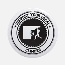 Support Climber Ornament (Round)