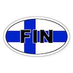 Finnish / Finland (FIN) Flag Oval Sticker