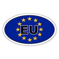 European Union (EU) Oval Decal