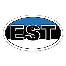 Estonian (EST) Flag Oval Decal