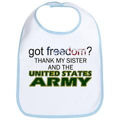 Got Freedom? Army (Sister) Bib