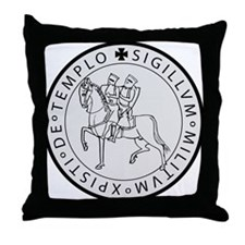 Templar Seal Throw Pillow