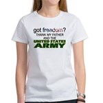 Got Freedom? Army (Father) Women's T-Shirt