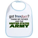 Got Freedom? Army (Father) Bib