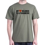 My Heart Belongs to a Paramedic Dark T-Shirt