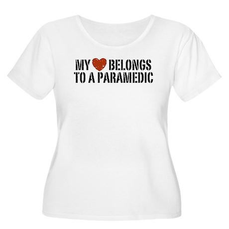 My Heart Belongs to a Paramedic Women's Plus Size