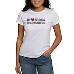 My Heart Belongs to a Paramedic Women's T-Shirt