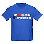 My Heart Belongs to a Paramedic Kids Dark T-Shirt