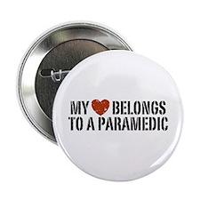"""My Heart Belongs to a Paramedic 2.25"""" Button"""