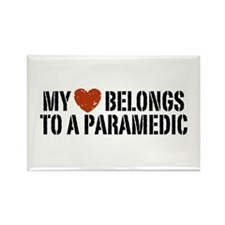 My Heart Belongs to a Paramedic Rectangle Magnet