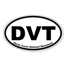 Devils Tower National Monument Oval Decal